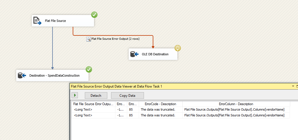 Data Viewer in SSIS