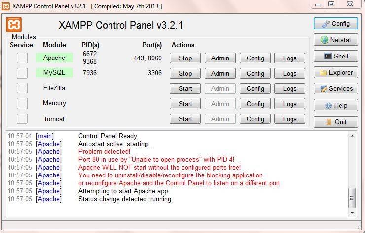 Xampp Apache Erreur Apache Arret De Facon Inattendue