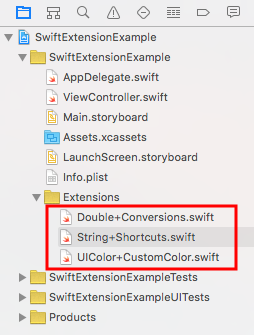 Exemple d'extension Swift
